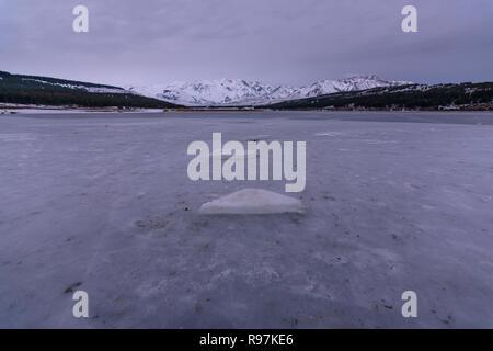 Saison d'hiver en Esquel, Chubut, Patagonie, Argentine Banque D'Images