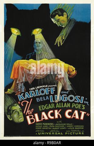 Film Original Titre: LE CHAT NOIR. Titre en anglais: LE CHAT NOIR. Année: 1934. Directeur: EDGAR ULMER. Credit: UNIVERSAL PICTURES / Album