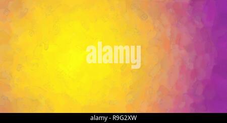 Jaune Violet Orange aquarelle background. Illustration numérique couleur simulant la texture du papier à aquarelle véritable. Banque D'Images