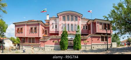PLOVDIV, Bulgaria, 20 août 2018: Petr 1 Fédération de restaurant dans la vieille ville de Plovdiv, Bulgarie. Le restaurant le plus célèbre dans la région de Plovdiv. Banque D'Images