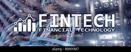 Fintech - Financial technology. Solution d'entreprise et développement de logiciels. Banque D'Images