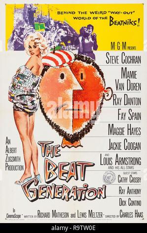 La Beat Generation (MGM, 1959) Poster Mamie Van Doren référence # 33635 Fichier 921THA