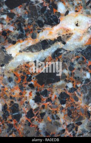 Orange gris en texture. bon macro des matériaux composites. Banque D'Images