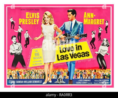 VIVA LAS VEGAS ('AMOUR DANS LAS VEGAS') Elvis Presley Vintage Movie Film Cinema encore de Poster 1964 titre alternatif ''Love à Las Vegas' avec Elvis Presley Ann Margret, Cesare Danova, William Demarest réalisé par George Sidney Écrit par Sally Benson. Produit par Jack Cummings/George Sidney 1960 USA en Grande-Bretagne, à la fois le film et sa bande originale ont été vendues à l'amour à Las Vegas pour éviter un conflit avec une autre de même nom ' Viva Las Vegas' film au Royaume-Uni Banque D'Images