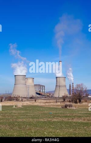Powered de charbon thermique à Bobov dol en Bulgarie