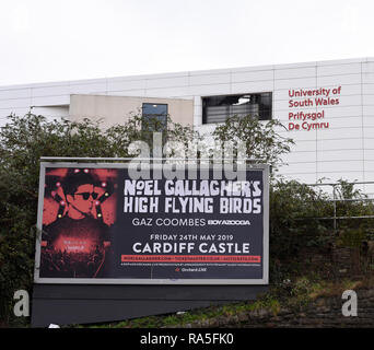 Prochain concert Noel Gallagher en dehors de l'affiche le numéro du bâtiment de l'université 3767 Banque D'Images