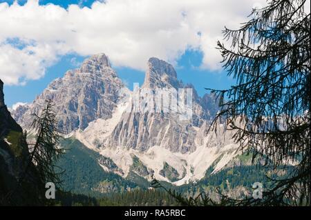 Monte Cristallo, 3221 m, près de Cortina d'Ampezzo, Dolomites, Padova, Veneto, Italie Banque D'Images