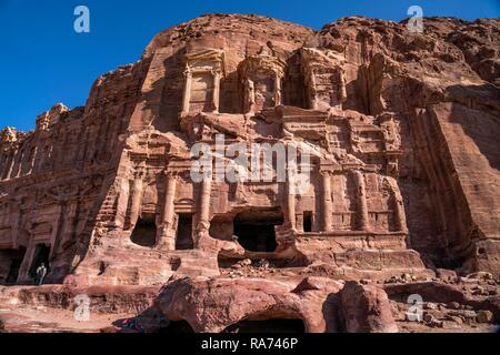 Tombeau corinthien, tombeau de mur royal, Petra, Jordanie