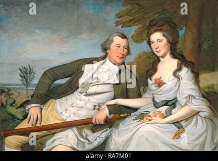 Charles Willson Peale, Benjamin et Eleanor Ridgely Laming, Américain, 1741-1827, 1788, huile sur toile. Repensé Banque D'Images