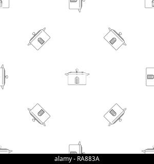 Casserole numérique icône. Description illustration de l'icône vecteur numérique casserole pour la conception web isolé sur fond blanc Banque D'Images