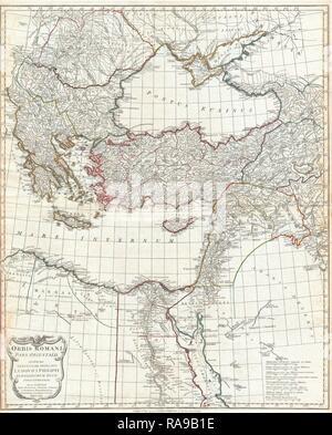 1794, Anville Site de l'Empire Romain, la Grèce inclues. Repensé par Gibon. L'art classique avec une touche moderne repensé Banque D'Images