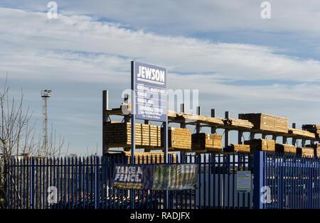 Jewson, une chaîne de constructeurs de machines fournir les outils, matériaux et équipements de construction, Northampton, Royaume-Uni Banque D'Images