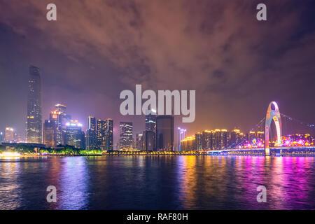 Skyline de Guangzhou. Guangzhou, Chine Banque D'Images