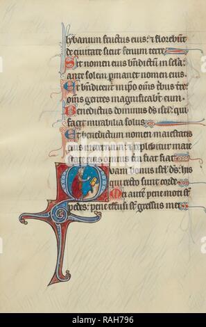 Initiale O: Moïse brisant les tables de la Loi, maître de Bute, franco-Flamands (actif vers 1260 - 1290), Paris ( repensé
