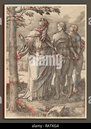 Lucas van Leyden (1489-1494, Russisch - 1533), la première interdiction, 1529, gravure. Repensé Banque D'Images
