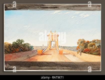 Attribué à James Bulwer (britannique, 1794 - 1879), Clifton Suspension Bridge près de Bristol, aquarelle et graphite repensé