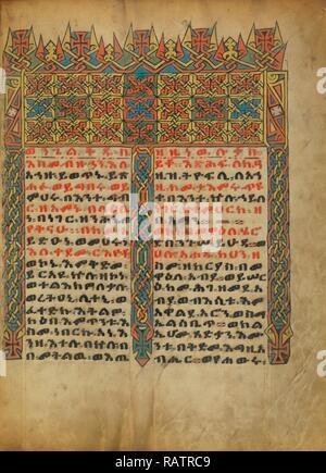 La page Incipit décorées, inconnu, l'Éthiopie, l'Afrique, environ 1480 - 1520, Tempera sur parchemin, feuille: 34,5 x 25,6 cm (13 repensé Banque D'Images