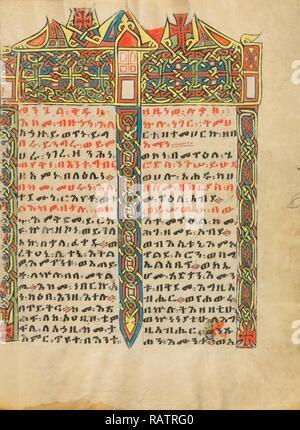La page Incipit décorées, inconnu, l'Éthiopie, l'Afrique, environ 1504 - 1505, Tempera sur parchemin, feuille: 34,5 x 26,5 cm (13 repensé Banque D'Images
