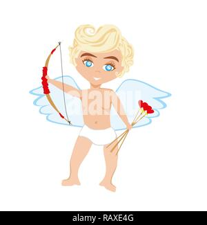 Funny little cupid Banque D'Images