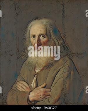Portrait d'un vieil homme, Simon Kick, 1639. Repensé par Gibon. L'art classique avec une touche moderne repensé Banque D'Images