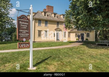 Buckman Tavern sur Lexington Green, Massachusetts