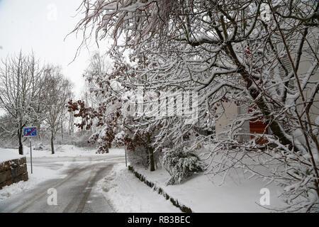 Paysage d'hiver. Paysage d'hiver après de fortes chutes de neige. Banque D'Images