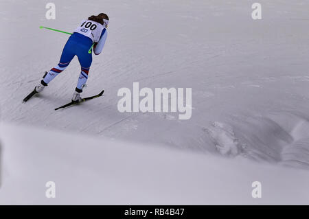 Gratuit, en République tchèque. 06 Jan, 2019. Anna Sixtova (CZE) participe à la women's 15 km départ groupé de l'épreuve dans l'OPA ski de fond European Cup 2019 gratuit de Nove Mesto, en République tchèque, le 6 janvier 2019. (CTK Photo/Lubos Pavlicek) Credit: CTK/Alamy Live News Banque D'Images