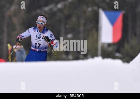 Gratuit, en République tchèque. 06 Jan, 2019. Ales Rypl (CZE) est en compétition dans l'épreuve du 20 km départ groupé de l'épreuve dans l'OPA ski de fond European Cup 2019 gratuit de Nove Mesto, en République tchèque, le 6 janvier 2019. (CTK Photo/Lubos Pavlicek) Credit: CTK/Alamy Live News Banque D'Images