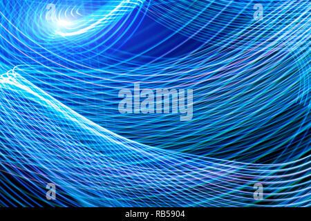 Résumé fond horizontal et vertical des interruptions des rayures violet et bleu, lignes d'écoulement. Arrière-plan de l'affiche pour l'effet glitch, couvrir, conce Banque D'Images