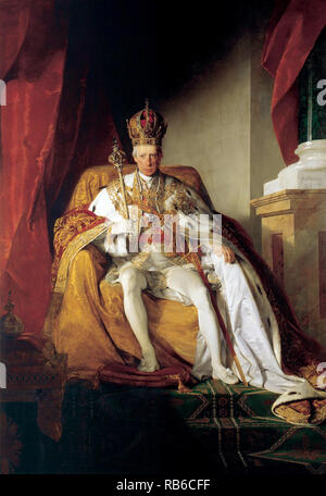 François II, Saint Empereur romain (1768 - 1835) le dernier empereur romain saint, décision de 1792 jusqu'en 1806, quand il a dissout le Saint Empire romain de la nation allemande Banque D'Images