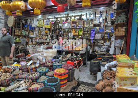 Israël, dans l'ouest de la Galilée, Acre, le marché de la vieille ville se souvenir Banque D'Images