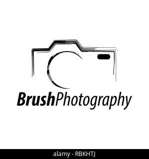 Photographie de la brosse. Abstract illustration icône appareil photo modèle de conception de l'idée concept logo Banque D'Images