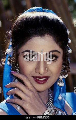 Portrait de Shilpa Shetty, Inde, Asie Banque D'Images