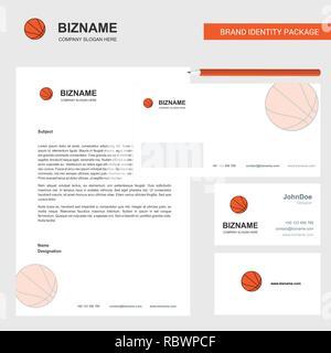Basket Ball A En Tete DEnveloppe Et Modele Vecteur De Conception