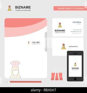 Logo Dentreprise Chef De File Couvrir Et Carte Visite Conception D