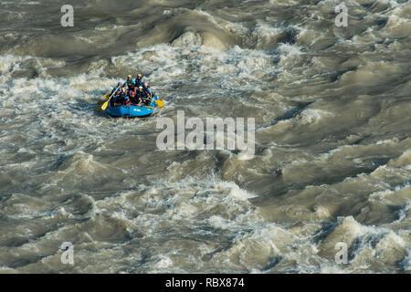 Rafting dans le Gange, Rishikesh, Inde Banque D'Images