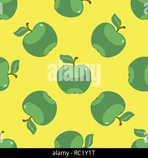 Jaune Vert pomme de fond transparent Banque D'Images