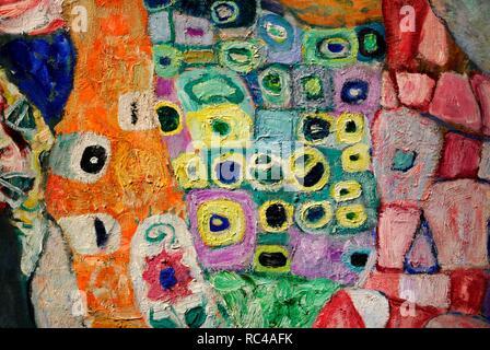 """Gustav Klimt (Vienne, 1862-Vienne, 1918). Peintre symboliste autrichien. Membre du mouvement de sécession de Vienne. Morte e Vita 'la mort et la vie"""", 1915. Détail. Huile sur toile. 178 cm x 198 cm. Musée Leopold. Vienne. L'Autriche. Banque D'Images"""