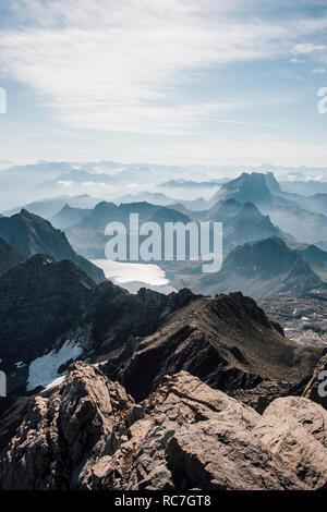 Mountainscape, marque, Vorarlberg, Autriche