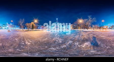 La ville de glace sur Tsvetnoy Boulevard   2019 Banque D'Images