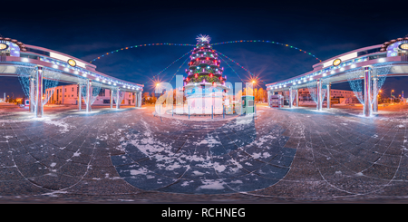 La ville de glace sur le boulevard Tsvetnoy   arbre de Noël Banque D'Images