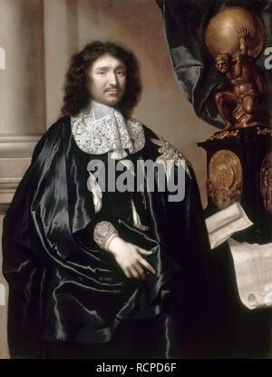 Portrait de Jean-Baptiste Colbert (1619-1683). Musée: Musée de l'histoire de la France, Le Château de Versailles. Auteur: LEFEBVRE, CLAUDE. Banque D'Images