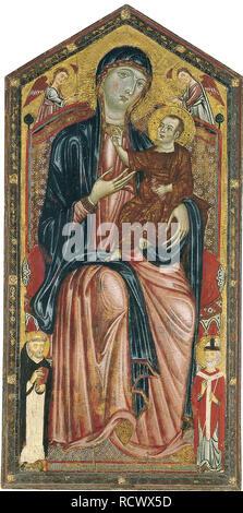 La Vierge et l'enfant ont intronisé avec les Saints