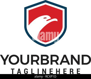Bouclier de sécurité Template design logo eagle Banque D'Images