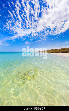 Littoral et plage de Coral Bay à l'ouest de l'Australie Banque D'Images