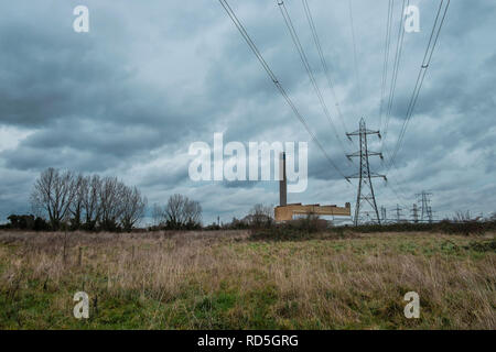 Charbon Littlebrook-feu power station, DARTFORD, KENT UK Banque D'Images