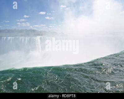 Niagara Falls, un complexe de cascades de la rivière Niagara. Banque D'Images