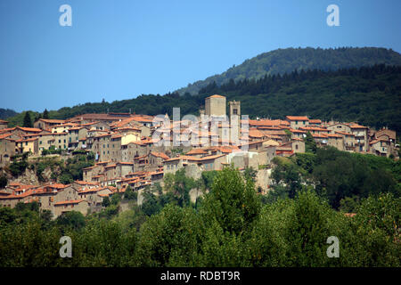 Italie, Toscane, Grosseto, Santa Fiora village. Banque D'Images