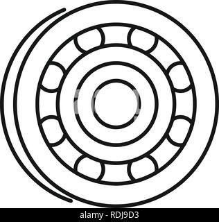 L'icône des métaux. Des métaux et l'icône Contour vectoriel pour le web design isolé sur fond blanc Banque D'Images
