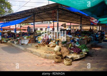 Marché des fruits et légumes, marché Conemara, Trivandrum, Kerala, Inde Banque D'Images